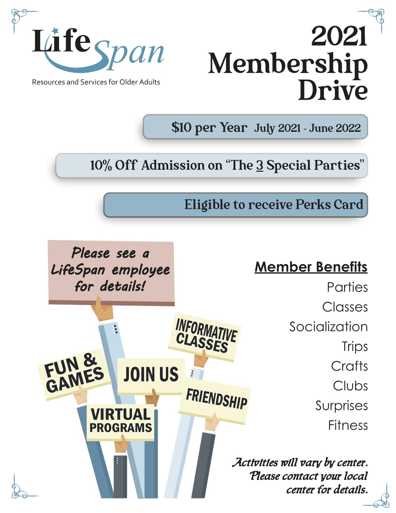 2020-2021 Membership Drive